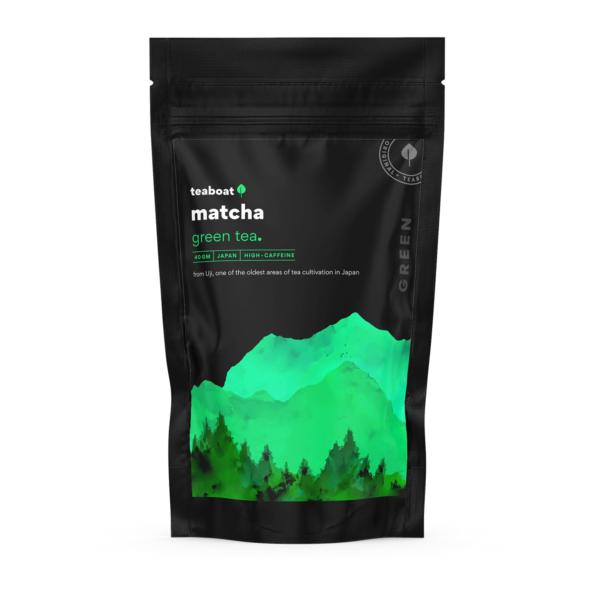 matcha green tea teaboat