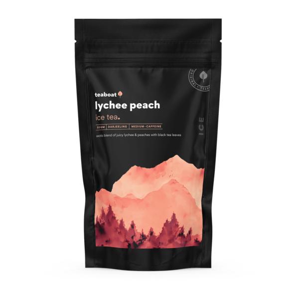 lychee peach ice tea teaboat